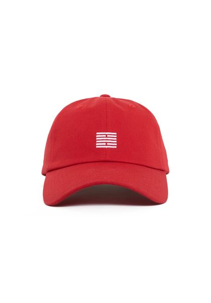 Brick Embroidery Dad Cap, Red