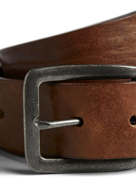 Victor Leather Belt, Mocha Bisque
